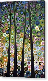 Acrylic Print featuring the painting Original Abstract Tree Landscape Painting ... Falling Light by Amy Giacomelli