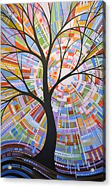 Original Abstract Tree Landscape Painting ... Here Comes The Sun Acrylic Print by Amy Giacomelli