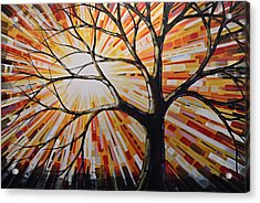 Acrylic Print featuring the painting Original Abstract Tree Landscape Painting ... Shine by Amy Giacomelli
