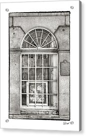 Original Art For Sale In Black And White Acrylic Print by Brenda Bryant