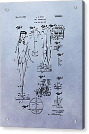 Original Barbie Doll Patent Acrylic Print by Dan Sproul