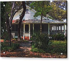 Acrylic Print featuring the photograph Original Beach Cottage # 625 by Laura Ragland