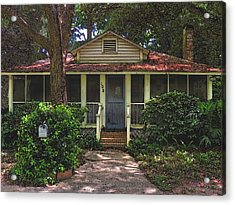 Acrylic Print featuring the photograph Original Beach Cottage #108 by Laura Ragland