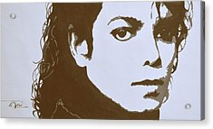 original black an white acrylic paint art- portrait of Michael Jackson#16-2-4-12 Acrylic Print