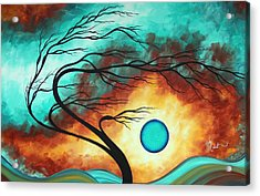 Original Bold Colorful Abstract Landscape Painting Family Joy I By Madart Acrylic Print by Megan Duncanson