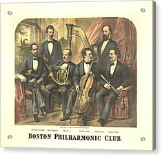 Original Boston Philharmonic Club 1875 Acrylic Print by Padre Art
