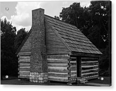 Acrylic Print featuring the photograph Original Cabin Of President Andrew Jackson by Robert Hebert
