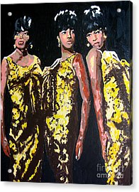 Original Divas The Supremes Acrylic Print by Ronald Young