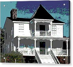 Original Fine Art Digital White House North Carolina Acrylic Print