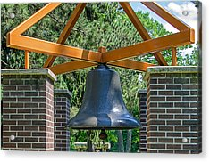 Acrylic Print featuring the photograph Original Fire Bell From The Superior Fire Dept In Wisconsin  1892  by Susan  McMenamin