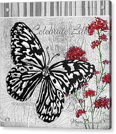 Original Inspirational Uplifting Butterfly Painting Celebrate Life Acrylic Print