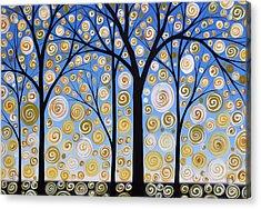 Original Landscape Tree Art Painting .. Sky Magic Acrylic Print by Amy Giacomelli