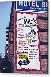 Original Mac's Acrylic Print by Paul Guyer
