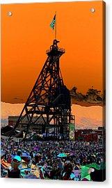 Acrylic Print featuring the photograph Original Mine Yard Montana Folk Festival 2013 by Kevin Bone
