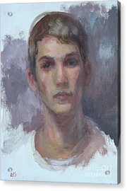 Original Portrait Called Boyfriend - Commission Your Own Painting Acrylic Print by Quin Sweetman
