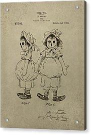 Original Raggedy Ann Doll Acrylic Print by Dan Sproul