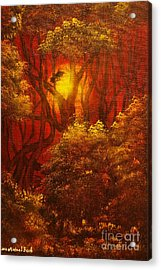Fairytale Forest- Original Sold - Buy Giclee Print Nr 27 Of Limited Edition Of 40 Prints  Acrylic Print