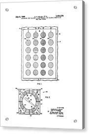 Original Twister Game Patent Acrylic Print