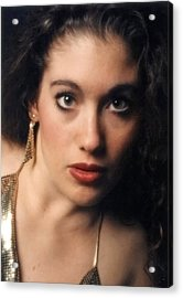 Original Used For Self Portrait  Acrylic Print by Teri Schuster
