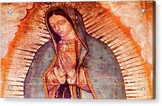 Original Virgin Mary Guadalupe Painting Acrylic Print