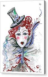 Original Watercolor Fashion Illustration Acrylic Print