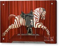 Original Zebra Carousel Ride Acrylic Print by Liane Wright