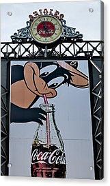 Orioles Mascot Drinks Coca Cola Acrylic Print