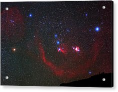 Orion Nebulae Above The Canary Islands Acrylic Print