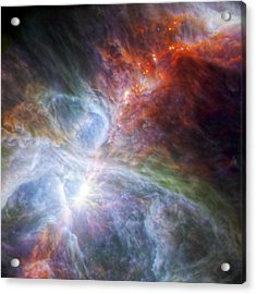 Orion's Rainbow Of Infrared Light Acrylic Print by Adam Romanowicz