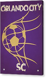 Orlando City Sc Goal Acrylic Print by Joe Hamilton