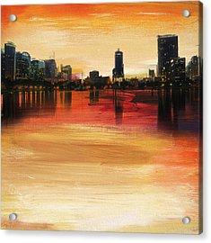 Orlando City Skyline  Acrylic Print
