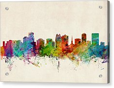 Orlando Florida Skyline Acrylic Print by Michael Tompsett
