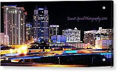 Orlando Skyline At Night Acrylic Print