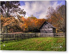 Orlean Puckett's Cabin Acrylic Print by Benanne Stiens