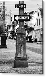Orleans One Way Acrylic Print by John Rizzuto