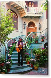 Orleans Picker Acrylic Print by Timothy Ramos