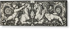 Ornament With Two Genii Riding On Two Chimeras Acrylic Print