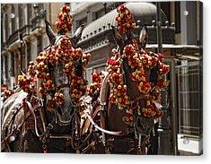 Ornamented Horses Acrylic Print