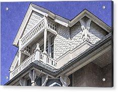 Ornate Balcony With View Acrylic Print by Lynn Palmer
