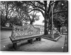 Acrylic Print featuring the photograph Ornate Bench by Gary Gillette