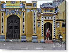 Ornate Buildings In The City Centre Of Hanoi Acrylic Print