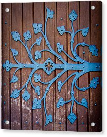 Ornate Church Door Hinge Acrylic Print by Mr Doomits