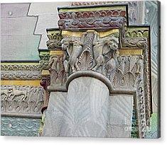 Ornate Columns Giclee Acrylic Print by CR Leyland