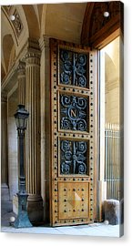 Ornate Door Acrylic Print by Andrew Fare