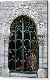 Ornate Door Acrylic Print by Brenda Conrad