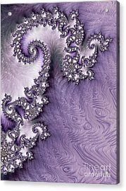 Ornate Lavender Fractal Abstract One  Acrylic Print