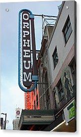 Orpheum Theatre Acrylic Print