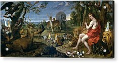 Orpheus And Animals Acrylic Print by Frans Snyders