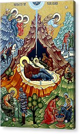 Orthodox Nativity Of Christ Acrylic Print