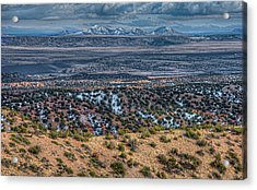 Acrylic Print featuring the photograph Ortiz Mountains by Britt Runyon